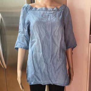 bbe0e1e6d27 Velvet Heart Tops - Velvet Heart denim tunic top off shoulder Size M